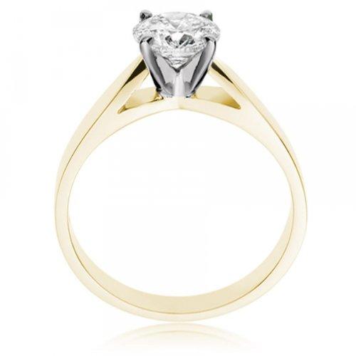 Diamond Manufacturers - Bague de fiancailles avec diamant Rond Femme - Or jaune 750/1000 (18 cts) - Diamant 1.31 ct 4 Bijoutier Boutique Or jaune 750/1000 (18 cts) 1.31 carat Couleur-E Pureté-VVS2 Bague de fiancailles avec Diamant certifié de qualité supérieure. Le diamant est serti sur une monture à Griffes en Or jaune 750/1000 (18 cts).