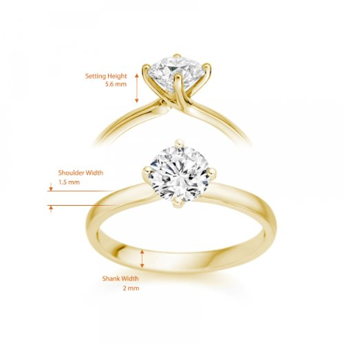 Diamond Manufacturers - Bague de fiancailles avec diamant Rond Femme - Or jaune 750/1000 (18 cts) - Diamant 1.94 ct 6 Bijoutier Boutique Or jaune 750/1000 (18 cts) 1.94 carat Couleur-E Pureté-VS2 Bague de fiancailles avec Diamant certifié de qualité supérieure. Le diamant est serti sur une monture à Griffes en Or jaune 750/1000 (18 cts).