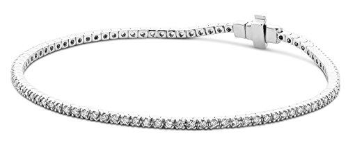 Miore - Bracelet Femme - Or blanc 375/1000 (9 carats) 5.2 gr - Diamant 1 cts 1 Bijoutier Boutique L'or blanc des bijoux Miore offre une touche d'élégance et met en valeur les pierres incrustées La femme qui porte un diamant est l'association parfaite entre les deux plus beaux joyaux du monde.La femme qui porte un diamant est l'association parfaite entre les deux plus beaux joyaux du monde Chaque bijou Miore est livré avec son certificat d'authenticité