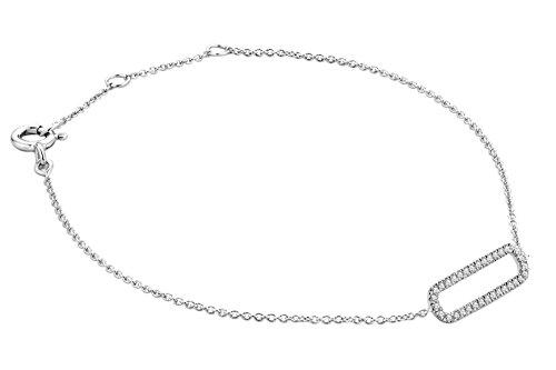 Miore - Bracelet - Or blanc 9 cts - Diamant 0.11 cts - 18 cm - MY022B 1 Bijoutier Boutique L'or blanc des bijoux Miore offre une touche d'élégance et met en valeur les pierres incrustées : Miore - Bracelet - Or blanc 9 cts - Diamant 0.11 cts - 18 cm - MY022B La femme qui porte un diamant est l'association parfaite entre les deux plus beaux joyaux du monde. Chaque bijou Miore est livré avec son certificat d'authenticité