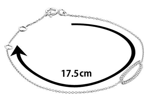 Miore - Bracelet extensible - Or blanc 9 cts - Diamant 0.11 cts - 18 cm - MY023B 3 Bijoutier Boutique L'or blanc des bijoux Miore offre une touche d'élégance et met en valeur les pierres incrustées La femme qui porte un diamant est l'association parfaite entre les deux plus beaux joyaux du monde.La femme qui porte un diamant est l'association parfaite entre les deux plus beaux joyaux du monde Chaque bijou Miore est livré avec son certificat d'authenticité