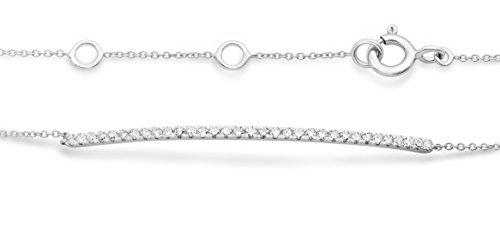 Miore - Bracelet extensible - Or blanc 9 cts - Diamant 0.22 cts - 18 cm - MY034B 1 Bijoutier Boutique L'or blanc des bijoux Miore offre une touche d'élégance et met en valeur les pierres incrustées La femme qui porte un diamant est l'association parfaite entre les deux plus beaux joyaux du monde.La femme qui porte un diamant est l'association parfaite entre les deux plus beaux joyaux du monde Chaque bijou Miore est livré avec son certificat d'authenticité