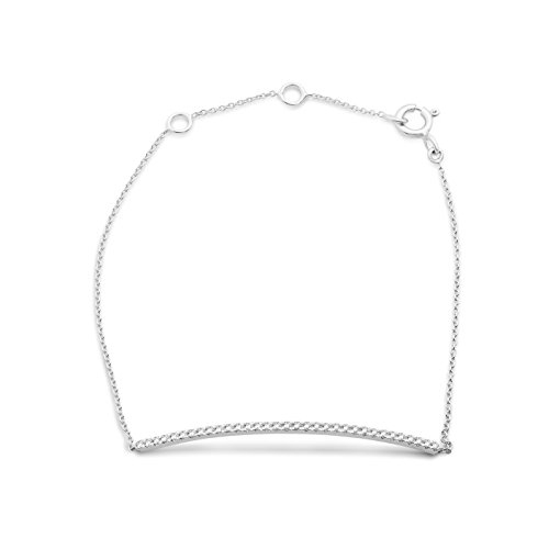 Miore - Bracelet extensible - Or blanc 9 cts - Diamant 0.22 cts - 18 cm - MY034B