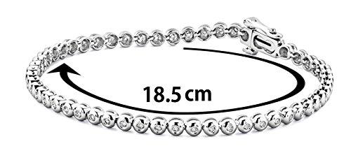 Miore - M0551W - Bracelet Femme - Or blanc 750/1000 (18 carats) 9.8 gr - Diamant 0.5 cts - 18.5 cm 1 Bijoutier Boutique L'or blanc des bijoux Miore offre une touche d'élégance et met en valeur les pierres incrustées La femme qui porte un diamant est l'association parfaite entre les deux plus beaux joyaux du monde.La femme qui porte un diamant est l'association parfaite entre les deux plus beaux joyaux du monde Chaque bijou Miore est livré avec son certificat d'authenticité