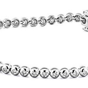 Miore - M0551W - Bracelet Femme - Or blanc 750/1000 (18 carats) 9.8 gr - Diamant 0.5 cts - 18.5 cm