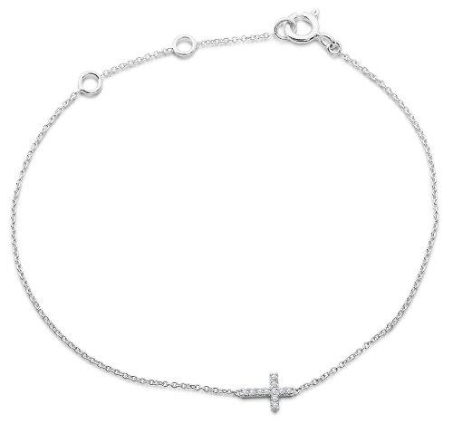 Miore - MY006B - Bracelet Femme - Or Blanc 9 Cts 375/1000 0.8 Gr - Diamant 3 Bijoutier Boutique L'or blanc des bijoux Miore offre une touche d'élégance et met en valeur les pierres incrustées La femme qui porte un diamant est l'association parfaite entre les deux plus beaux joyaux du monde.La femme qui porte un diamant est l'association parfaite entre les deux plus beaux joyaux du monde Chaque bijou Miore est livré avec son certificat d'authenticité