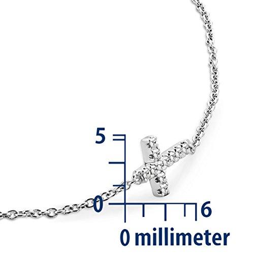 Miore - MY006B - Bracelet Femme - Or Blanc 9 Cts 375/1000 0.8 Gr - Diamant 4 Bijoutier Boutique L'or blanc des bijoux Miore offre une touche d'élégance et met en valeur les pierres incrustées La femme qui porte un diamant est l'association parfaite entre les deux plus beaux joyaux du monde.La femme qui porte un diamant est l'association parfaite entre les deux plus beaux joyaux du monde Chaque bijou Miore est livré avec son certificat d'authenticité