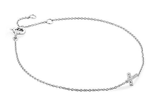 Miore - MY006B - Bracelet Femme - Or Blanc 9 Cts 375/1000 0.8 Gr - Diamant 2 Bijoutier Boutique L'or blanc des bijoux Miore offre une touche d'élégance et met en valeur les pierres incrustées La femme qui porte un diamant est l'association parfaite entre les deux plus beaux joyaux du monde.La femme qui porte un diamant est l'association parfaite entre les deux plus beaux joyaux du monde Chaque bijou Miore est livré avec son certificat d'authenticité