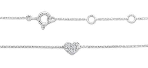 Miore - MY008B - Bracelet Femme - Or Blanc 9 Cts 375/1000 0.9 Gr - Diamant 1 Bijoutier Boutique L'or blanc des bijoux Miore offre une touche d'élégance et met en valeur les pierres incrustées La femme qui porte un diamant est l'association parfaite entre les deux plus beaux joyaux du monde.La femme qui porte un diamant est l'association parfaite entre les deux plus beaux joyaux du monde Chaque bijou Miore est livré avec son certificat d'authenticité