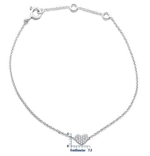 Miore - MY008B - Bracelet Femme - Or Blanc 9 Cts 375/1000 0.9 Gr - Diamant 2 Bijoutier Boutique L'or blanc des bijoux Miore offre une touche d'élégance et met en valeur les pierres incrustées La femme qui porte un diamant est l'association parfaite entre les deux plus beaux joyaux du monde.La femme qui porte un diamant est l'association parfaite entre les deux plus beaux joyaux du monde Chaque bijou Miore est livré avec son certificat d'authenticité