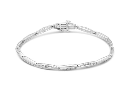 Miore - SA965B - Bracelet Femme - Or Blanc 9 Cts 375/1000 5.22 Gr - Diamant 1 Bijoutier Boutique L'or blanc des bijoux Miore offre une touche d'élégance et met en valeur les pierres incrustées La femme qui porte un diamant est l'association parfaite entre les deux plus beaux joyaux du monde.La femme qui porte un diamant est l'association parfaite entre les deux plus beaux joyaux du monde Chaque bijou Miore est livré avec son certificat d'authenticité
