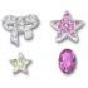 deux étoiles et un chaton en cristal Fuchsia. Le nœud et une étoile sont ornés de cristaux sertis pavé. Swarovski FR - The Magic of Crystal