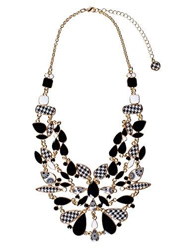 Desigual - Collier en métal - 26 cm - Femme 1 Bijoutier Boutique Bijou pour Femme en Métal Longueur : 26 cm Couleur : Noir