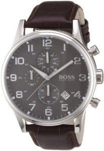 Hugo-Boss-1512570-Montre-Homme-Quartz-Analogique-Cadran-Bracelet-Cuir-Marron-0 3 Bijoutier Boutique
