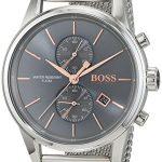 Montre Homme Hugo BOSS 1513440 4 Bijoutier Boutique Mouvement à quartz. Boîtier et bracelet en acier inoxydable. Étanche.