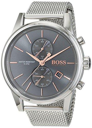 Montre Homme Hugo BOSS 1513440 2 Bijoutier Boutique Mouvement à quartz. Boîtier et bracelet en acier inoxydable. Étanche.