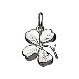 Pendentifs tendresse Pendentif en argent trèfle à quatre feuilles nervuré bijouterie 1001 Bijoux