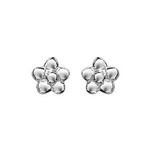 Boucles d'oreilles standard Boucles d'oreilles tige argent rhodié petite fleur bijouterie 1001 Bijoux