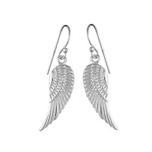 Boucles d'oreilles standard Boucles d'oreilles pendantes en argent aile d'oiseau suspendu et fermoir crochet bijouterie 1001 Bijoux