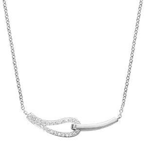 1 lisse et l'autre ornée d'oxydes blancs sertis - longueur 40cm + 4cm de rallonge bijouterie 1001 Bijoux