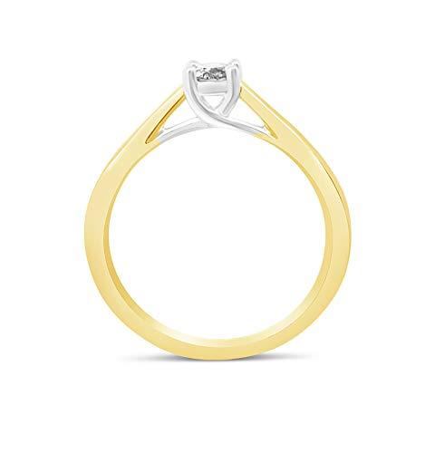 Bague en or jaune 1/4 carat avec diamant pour femme - 4 griffes_50 2 Bijoutier Boutique Cette charmante bague en or jaune est dotée d'un diamant naturel de 1/4 carat d'une grande pureté qui brille Le diamant mesure 4 mm de diamètre et est solidement serti de 4 griffes Si vous souhaitez des conseils, n'hésitez pas à nous contacter, car nous sommes conscients que l'achat de bijoux n'est pas un achat quotidien.