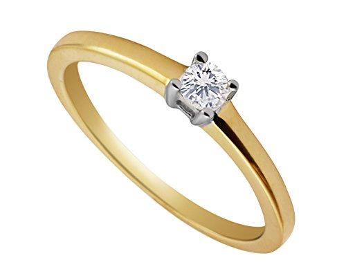 G&S Diamonds Or 375 or jaune 375/1000 (9 cts) i Diamant 1 Bijoutier Boutique Cette charmante bague en or jaune a un diamant naturel 1/4 carat d'une grande clarté qui fait vraiment briller Le diamant mesure 4 mm de diamètre et est fixé en toute sécurité avec 4 griffes. Si vous souhaitez des conseils, veuillez être en contact, car nous comprenons que l'achat de bijoux n'est pas un achat quotidien pour la plupart des gens.